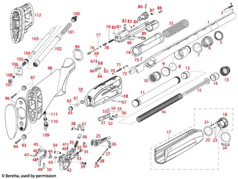 Beretta  391 Xtrema Schematic - Brownells Uk.